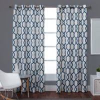 Exclusive Home Kochi 96-Inch Lined Window Curtain Panel Pair in Teal