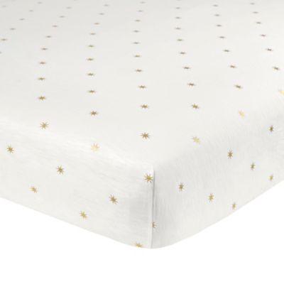Crib Bedding Sets Just Born Sparkle Sunburst Ed Sheet In Ivory