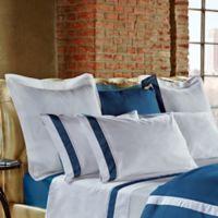 Frette at Home Arno European Pillow Sham in Ocean/White
