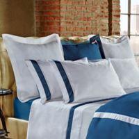 Frette at Home Arno Standard Pillow Sham in Ocean/White