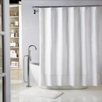 Wamsutta® Baratta Stitch 54-Inch x 78-Inch Stall Shower Curtain in White/Ivory