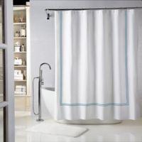 Wamsutta® Baratta Stitch 72-Inch x 84-Inch Shower Curtain in Seaglass/Teal