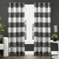 Exclusive Home Surfside 96-Inch Grommet Top Window Curtain Panel Pair in Black Pearl