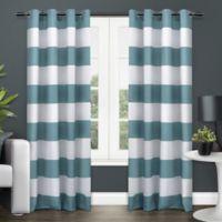 Exclusive Home Surfside 96-Inch Grommet Top Window Curtain Panel Pair in Teal