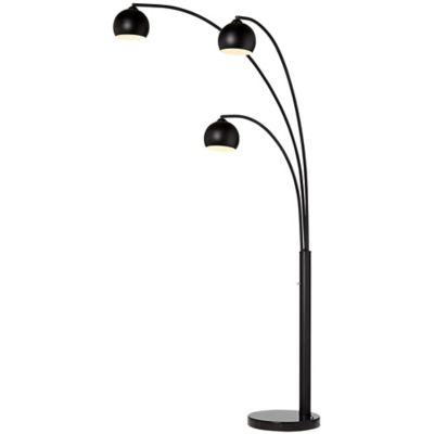 Buy 3 light floor lamp from bed bath beyond pacific coast lighting crosstown 3 light arc floor lamp in oil rubbed bronze aloadofball Choice Image