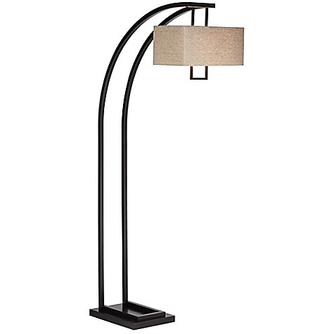 lighting aiden place 2 light arc floor lamp in oil rubbed bronze. Black Bedroom Furniture Sets. Home Design Ideas
