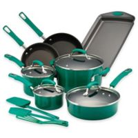 Rachael Ray™ Porcelain Nonstick 14-Piece Cookware Set in Fennel