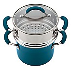 Rachael Ray™ Porcelain Nonstick Steamer Set in Marine Blue