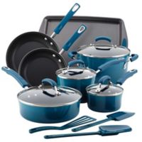 Rachael Ray™ Porcelain Nonstick 14-Piece Cookware Set in Marine Blue