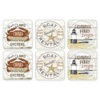 Pimpernel Coastal Signs Coasters (Set of 6)