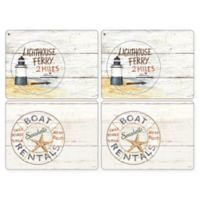 Pimpernel Coastal Signs Placemats (Set of 4)