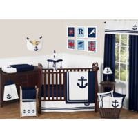 Sweet Jojo Designs Anchors Away 11-Piece Crib Bedding Set
