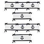 Sweet Jojo Designs Anchors Away 4-Piece Crib Bumper Set