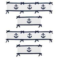 Sweet Jojo Designs Anchors Away 4-Piece Crib Bumper Set