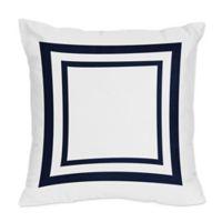 Sweet Jojo Designs Anchors Away Throw Pillows (Set of 2)