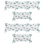 Sweet Jojo Designs Earth and Sky 4-Piece Crib Bumper Set
