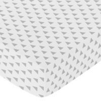 Sweet Jojo Designs Earth and Sky Triangle Fitted Crib Sheet