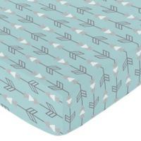 Sweet Jojo Designs Earth and Sky Arrow Fitted Crib Sheet