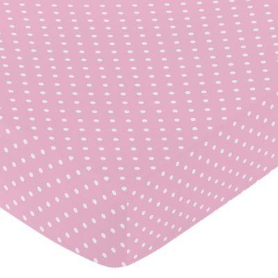 Sweet Jojo Designs Skylar Polka Dot Fitted Crib Sheet In Pink