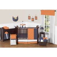 Sweet Jojo Designs Arrow 11-Piece Crib Bedding Set in Orange/Navy