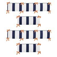 Sweet Jojo Designs Arrow 4-Piece Crib Bumper Set in Orange/Navy