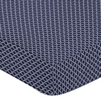 Sweet Jojo Designs Arrow Hexagon Fitted Crib Sheet in Navy