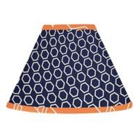 Sweet Jojo Designs Arrow Lampshade in Orange/Navy