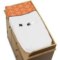 Sweet Jojo Designs Arrow Changing Pad Cover in Orange/Navy
