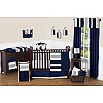 Sweet Jojo Designs Navy and Grey Stripe 11-Piece Crib Bedding Set