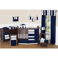 Sweet Jojo Designs Navy and Grey Stripe 11-Piece Crib Bedding Set