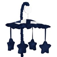 Sweet Jojo Designs Chevron Musical Mobile in Navy Blue and White
