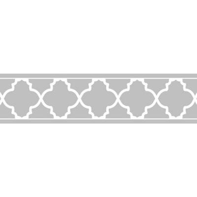 Sweet Jojo Designs Trellis Wallpaper Border In Grey White