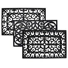 J Amp M Home Fashions Wrought Iron Rubber Door Mat Bed Bath