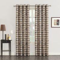 Cove 108-Inch Grommet Top Window Curtain Panel in Mocha