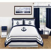 Sweet Jojo Designs Anchors Away Full/Queen Comforter Set