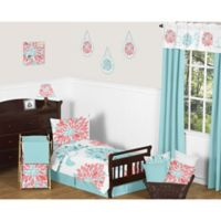 Sweet Jojo Designs Emma 5 Piece Toddler Bedding Set In White Turquoise
