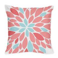 Sweet Jojo Designs Emma Throw Pillows in White/ Turquoise (Set of 2)
