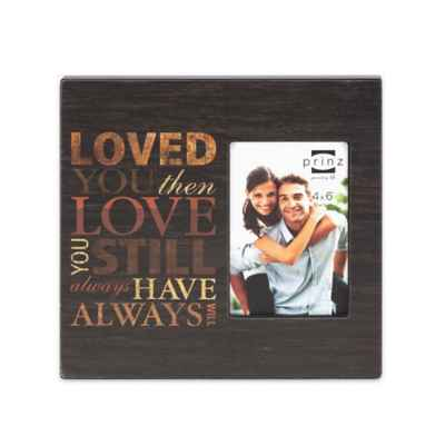 "Prinz 4-Inch x 6-Inch ""All In The Family"" Wood Picture Frame"