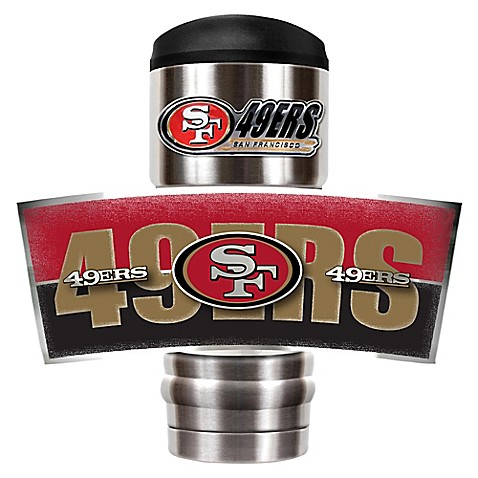 Nfl san francisco 49ers stainless steel 18 oz insulated for 49ers bathroom decor