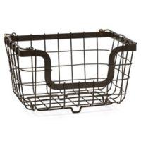 Mikasa® General Store Stacking Organization Baskets in Black (Set of 2)