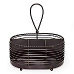 Mikasa® Gourmet Basics 10-Inch Rope Napkin and Flatware Caddy in Black