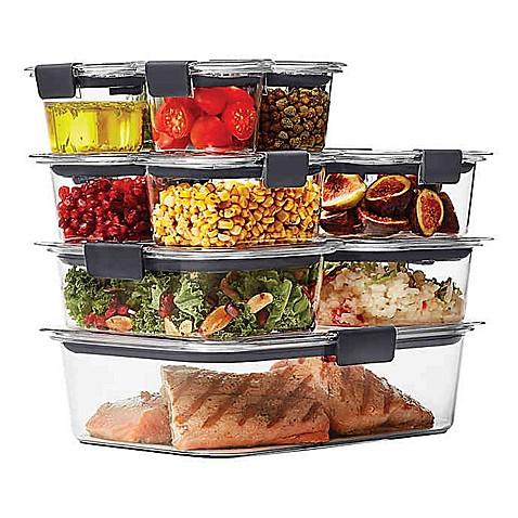 Rubbermaid 174 Brilliance 22 Piece Food Storage Container Set