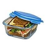 Smart Planet 28 oz. Pure Glass Sandwich Container in Blue