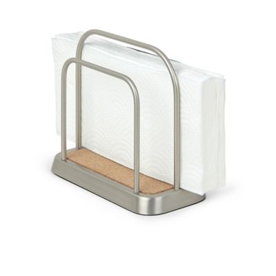 Buy umbra sketch napkin holder in nickel from bed bath for Bathroom napkin holder