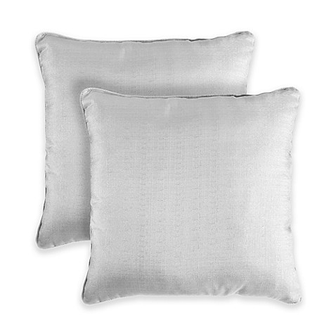 Chambray 18-Inch Square Throw Pillows in Blue (Set of 2) - Bed Bath & Beyond