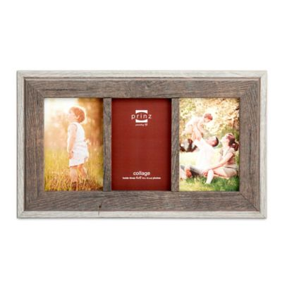 prinz bryce wood three 4 inch x 6 inch picture frame in natural
