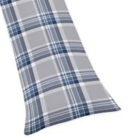 Sweet Jojo Designs Plaid Body Pillowcase in Navy/Grey