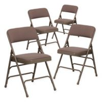 Belnick Hercules Fabric 4-Pack Folding Chair Collection in Beige