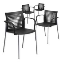 Flash Furniture Stack Chairs in Black (Set of 4)