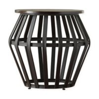 Verona Home Taloga Mixed Media End Table in Black